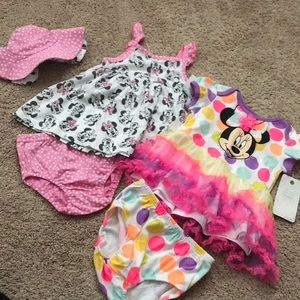 NWT Disney baby 6-9 month girl outfits